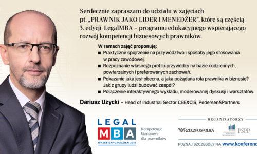 Legal MBA – studia dla prawników 09-12.2019